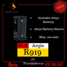 Geek Vape Aegis (Includes 26650 Battery) For Only R900